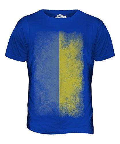 CandyMix Ukraine Verblichen Flagge Herren T Shirt Königsblau