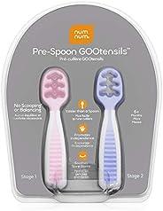 NumNum Pre Cucharas de Aprendizaje para Bebés BLW, Naranja/Azul