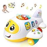 ACTRINIC Baby Elektronisches Flugzeug Licht und Musik Best Pädagogisches Spielzeug für Kinder für Kleinkinder Jungen und Mädchen 1 2 3 4 5 Jahre Alt (Flugzeug)