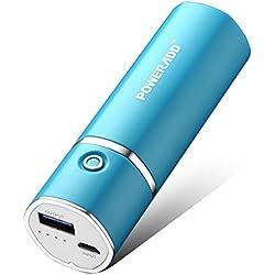 Poweradd Slim2 5000mAh Chargeur Portable Batterie de Secours Externe(Apple Adapteurs Non Inclus) pour iphone 7, iphone 7 plus , samsung S7 et D'autres Appareils Chargés Via USB 5V-Bleu