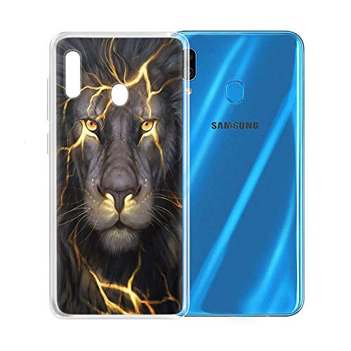 Yoedge Samsung Galaxy A20e Hülle, TPU Silikon Transparent Schutzhülle Handyhülle mit Muster Motiv Case Ultradünn Stoßfest 360 Grad Bumper Weiche Cover für Samsung Galaxy A20e 5,8