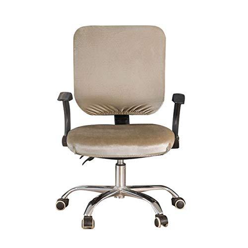 Rejoicing, coprisedia per sedia da ufficio, girevole, elasticizzato, protezione per sedia da ufficio, decorazione per la casa cachi