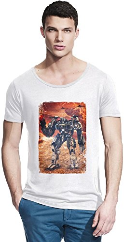 Supreme Commander 2 Robot Bamboo larga T-shirt Collo X-Large