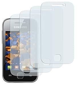 4x mumbi Displayschutzfolie Samsung Galaxy Y S5360 Displayschutz CrystalClear unsichtbar
