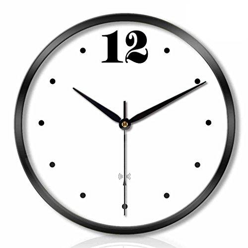 ZML Horloge Murale, Radio-pilotée, Non-coutil, Ronde décorative