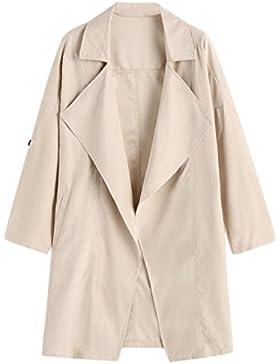 Beautytop Cappotto Donna Invernali Autunno Giacche Manica Lungo Trench Cappotto Felpa Tops Outwear
