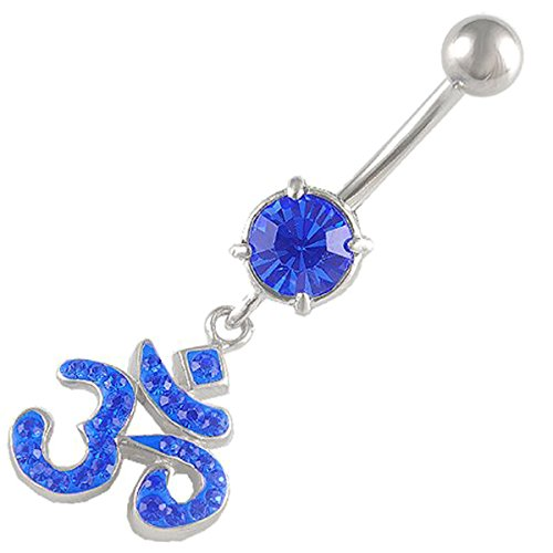 bodyjewelry CR-Belly-CR_205-Sapphire-ohm