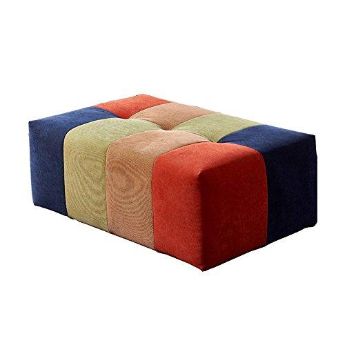 DIDIDD Taburete de sofá-sofá reposapiés sofá de la tienda de ropa para taburete de zapatos sofá de tela muelle sofá taburete taburete - taburete de almacenamiento