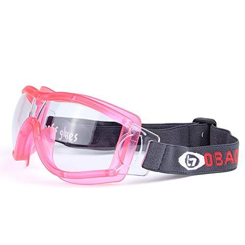 ZzWEI Basketballbrille Für Kinder, Explosionsgeschütztes Reiten Im Freien, Trainingszubehör Für Anti-Schock-Schutzbrillen,pink