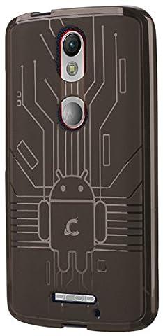 Moto X Force Case, Cruzerlite Bugdroid Circuit Case Compatible for Motorola Moto X Force - Smoke