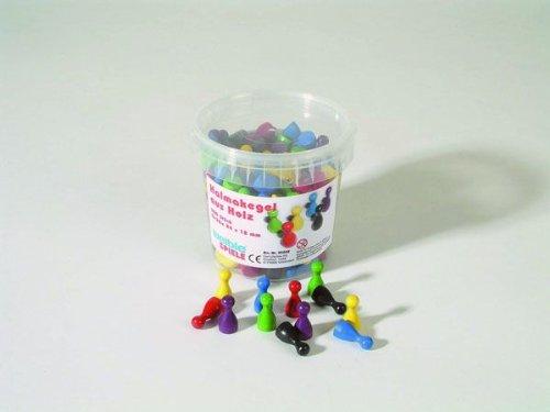 200er-Set Halmakegel (25 mm), farblich gemischt