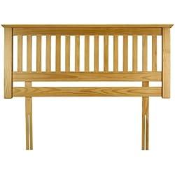 Julian Bowen Barcelona - Cabecero doble de pino para cama, madera, pino acabado antiguo, 107 X 12 X 65cm