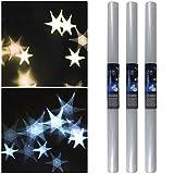 TW24 3D Hologrammfolie 3 Rollen a 33x100 cm transparent Sterne Sternfolie Lichteffekt Folie Sterneffekt