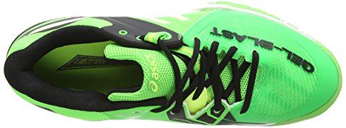 ASICS Gel-Blast 6, Chaussures Multisport Outdoor Hommes Vert (Dark Green/Flash Orange/Black 8030)