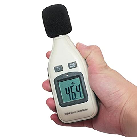Sound Level Meter,Clode® Digital Sound Pressure Level Decibel Noise Meter Tester Measurement 30~130dB LCD for Monitoring Noise Levels in Factories, Offices, Theaters and Many Other Places (White)