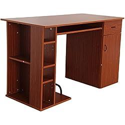 Mesa de Ordenador PC 120x60x74cm Oficina Despacho Hogar Escuela Escritorio Mobiliario Madera