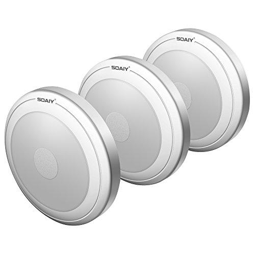 [neue Version] SOAIY 3er-Set LED Nachtlicht mit Touchsensor Dimmbar Batteriebetrieben Touch Lampe Schrankleuchte Küchenlampe Memory-Funktion Warmweiß 2700K