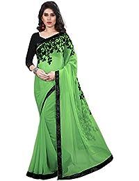 Tread India Chiffon Saree (Tread-Z_Light Pidta Green_Light Pista Green)