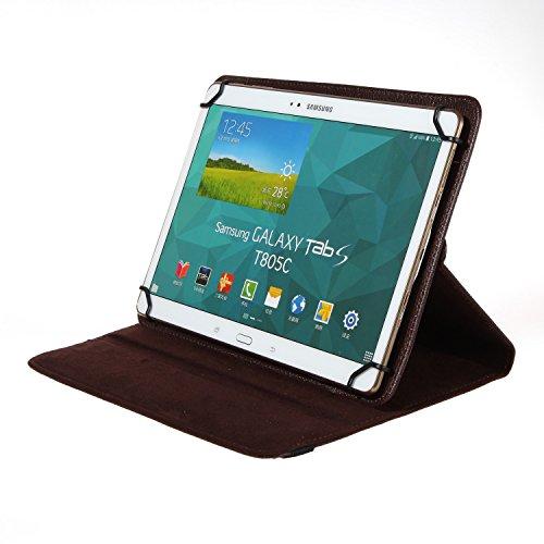 BRALEXX Universal Tablet PC Tasche passend für Samsung Galaxy Note 10.1 2014 Edition LTE, 10 Zoll, Braun