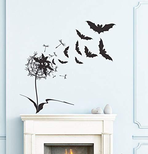 Entwickelt Fliegende Fledermäuse Mit Blumen Wandtattoos Für Halloween Home Spezielle Dekor Happy Halloween Wandaufkleber Poster 71X71 Cm