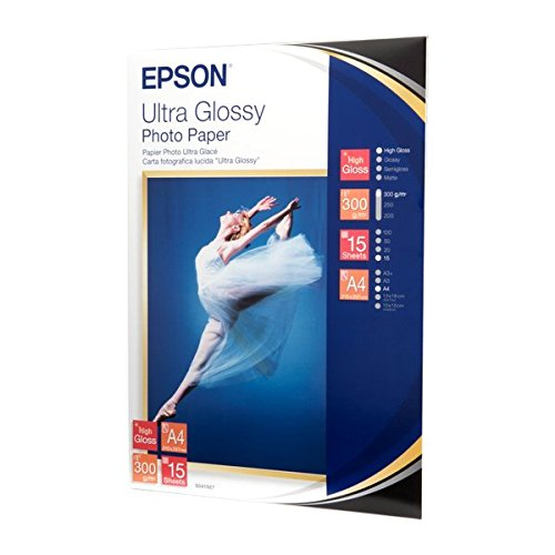 Epson C13S041927 Ultra glossy photo paper inkjet 300g/m2 A4 15 Blatt Pack (Epson Glossy Photo Paper)