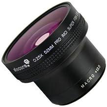 Siocore - Convertidor ojo de pez para Samsung NX, Sony Nex, Nikon 1 y Pentax Q (aumento de 0,25, rosca de ajuste de 40,5 mm, gran angular, con macro lente)
