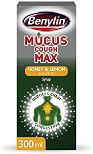 BENYLIN Mucus Cough Max - Honey & Lemon Flavour – Helps Reduce Cough Intensity From Day 1 - Cough Medicine
