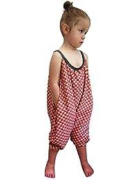 Toddler Kids Baby Girls Correas Impresión Mamelucos Monos Pieza Pantalones  Ropa CQ9346 c88993093cb6f