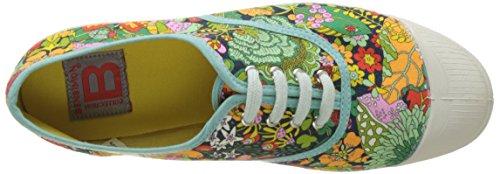 Bensimon - Tennis Lacet Liberty, Basse Donna Multicolore (Imprime Vif)