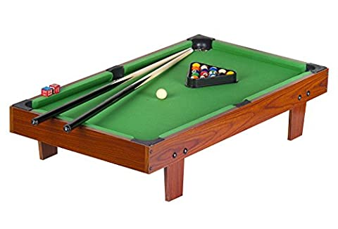 Billard de table luxe Table de billard avec accessoires*Table de snooker/billard avec billes -deux ensembles (billard / snooker) - vert - 91 cm