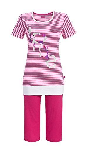 Ringella Damen Pyjama - Caprihose 7211225 Magenta