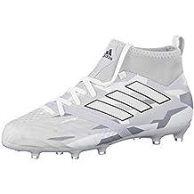 Botas Adidas Ace 17.1 Blancas Suela Fg/Ag Con Calcetín Niño