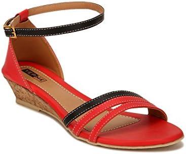 Yepme - Sandalias de vestir de Material Sintético para mujer multicolor rojo y negro