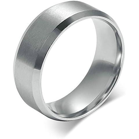 Alimab gioielli anelli uomini Acciaio inossidabile liscio Banda nozze