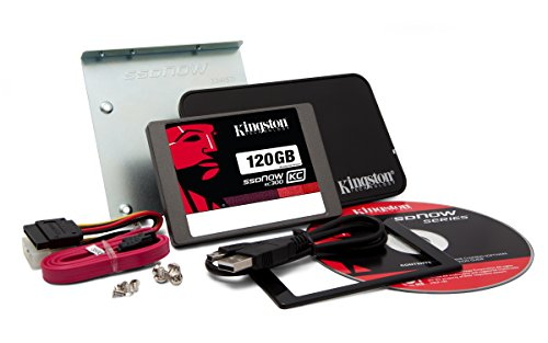 Kingston SKC300S37A/120GB interne 120GB SSD-Festplatte (6,9 cm (2,5 Zoll), SATA III) Kit