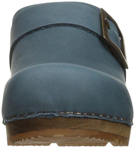 Sanita Wood-Urban Cuir Sabots blue