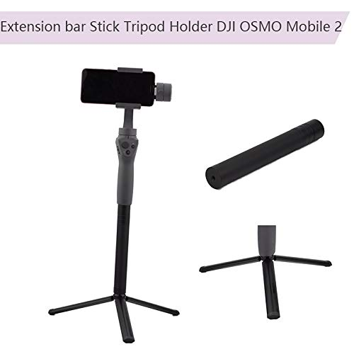HAMISS 2in 1 Extension Bar Stick Portable Folding Tripod Holder for DJI OSMO Mobile 2 Feiyu Zhiyun Smooth 4 Handheld Gimbal Camera -