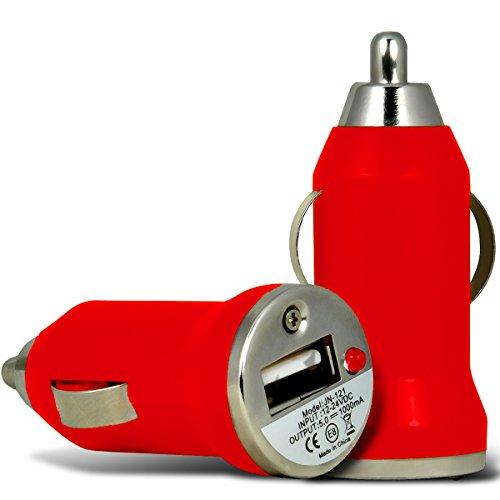 KFZ USB Charger Universal Ladegerät Adapter für Auto mit LED-Anzeige 1 A / 5 W von wortek Rot
