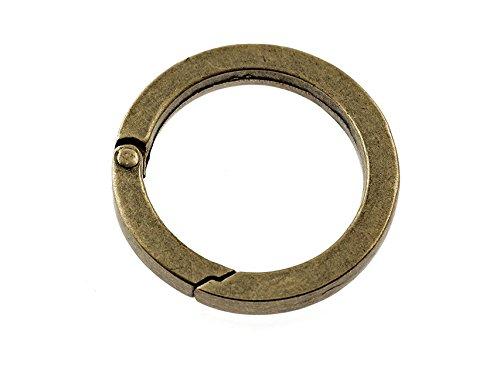 1 großer, stabiler Karabiner als flacher Ring 36 mm von Vintageparts, DIY-Schmuck