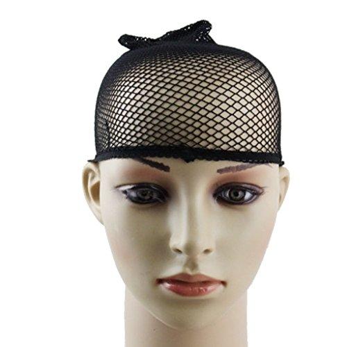 itrends Stück 2perückenkappen, Nylon schwarz Stretch Netz Mesh Haar Cap, Unisex - Stretch-mesh-2 Stück