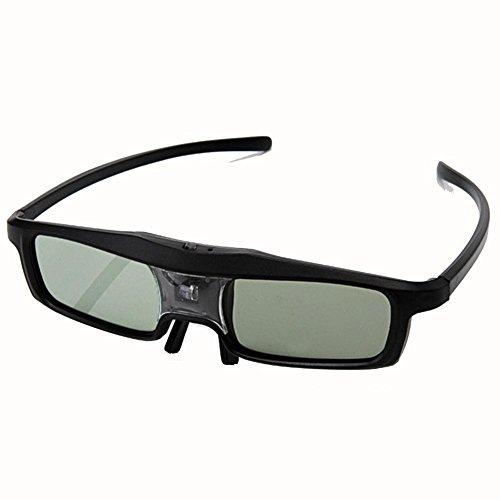 HUYAN1 DLP Link 3D Brille 144Hz 3D wiederaufladbare IR Active Shutter Eyewear Für DLP-Link Beamer& TV-BenQ, Optoma, Dell, Mitsubishi, Samsung, Acer, Vivitek, NEC, Sharp, ViewSonic etc