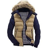 VRTUR Warme Winterjacke Herren Mantel Jacke mit Fell Wintermantel mit Kapuze Übergangsjacke Gefütterte Winterparka