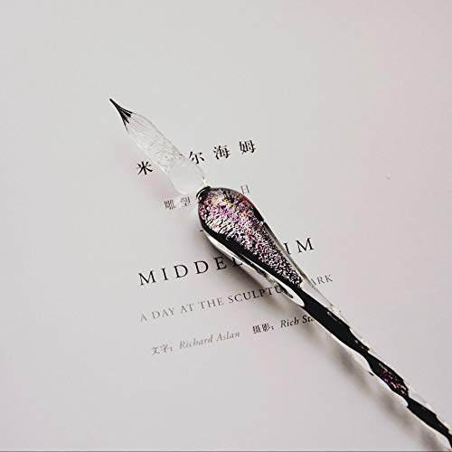 Kristallglas-Emaille-Stift, kreativer handgemachter Glasmarkierungsstift, eleganter Emaille-Stift, Big Dipper-Stift, alter chinesischer himmlischer Stift, orientalischer magischer Stift. 18,3 cm -
