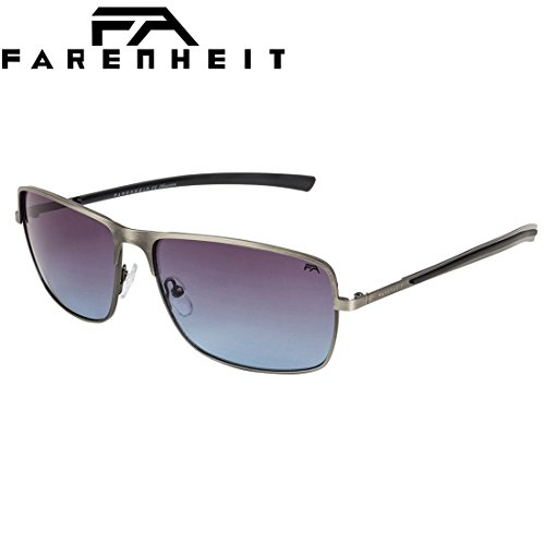Farenheit UV Protected Rectangular Unisex Sunglasses - (SOC-FA-2329-C1|60|Blue Color Lens)