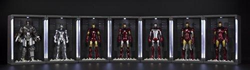 BANDAI-Iron Man MK Vi y Set Hall de Armaduras, Figura de (BAN14345) 5