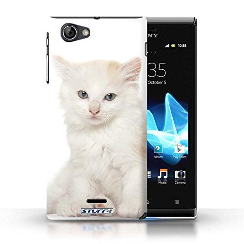 Kobalt® Imprimé Etui / Coque pour Sony Xperia J (ST26i) / Sibérien conception / Série Espèces de chats Kurillian
