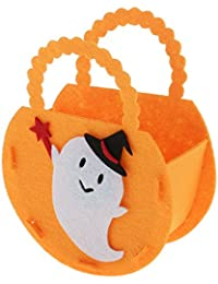 MagiDeal 3pcs Halloween Goody Handbag Candy Wizard Ghost Bags Kids Toys Bag Hallowmas Party Gift Props White Ghost