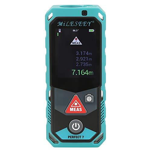 Distanziometro Laser, Akozon P7 Misuratore Telemetro Laser Bluetooth Misuratore di Area Volume Tridimensionale Visualizza Dati Auto-sensing Sensore di ingrandimento 4X(P7 80m)