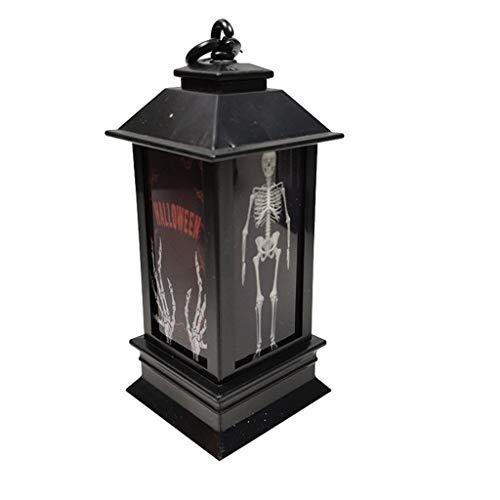 Halloween LED Lampe Dekoration kreative Nachtlichter Schlummerleuchten (Vogelscheuche, One size)