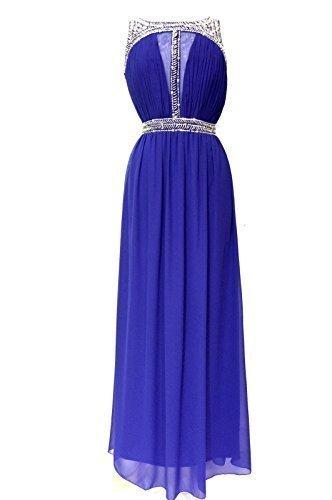 Damen verschönert blau maxi kleid Abendkleid Blau Blau -friseur-murat.de